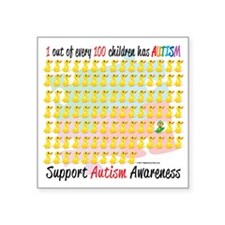 """Autism-1-out-of-100 Square Sticker 3"""" x 3"""""""