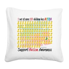 Autism-1-out-of-100 Square Canvas Pillow
