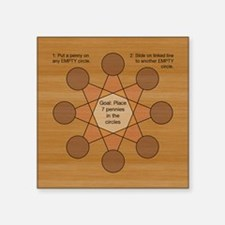 "PennySlideBKGwood Square Sticker 3"" x 3"""