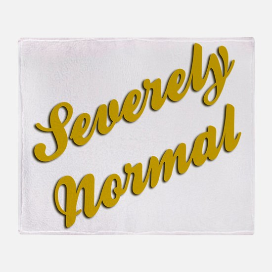 Severely Normal Throw Blanket
