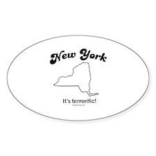New York - it's terrorific Oval Decal