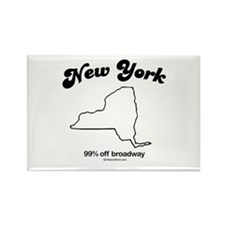 New York - 99% off broadway Rectangle Magnet
