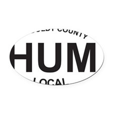 HUM Local Oval Car Magnet