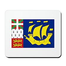 Saint-Pierre et Miquelon flag Mousepad