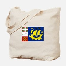 Saint-Pierre et Miquelon flag Tote Bag