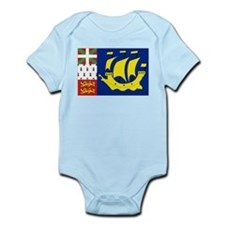 Saint-Pierre et Miquelon flag Infant Bodysuit