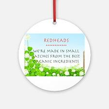 Organic Redhead Ornament (Round)