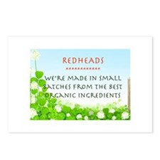 Organic Redhead Postcards (Package of 8)