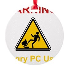 Angry PC User Red Ornament