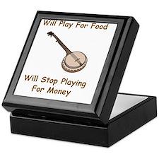 Banjo For Money Brown Keepsake Box