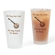 Banjo For Money Brown Drinking Glass