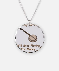 Banjo For Money Brown Necklace