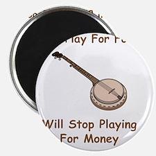 Banjo For Money Brown Magnet