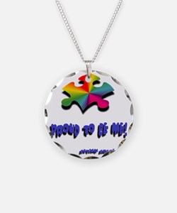 Proud to be me Necklace Circle Charm