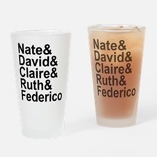 Six Feet Under names-black Drinking Glass