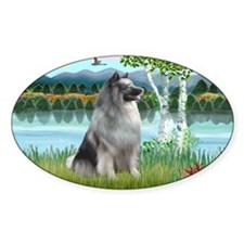 LIC-Birches-Keeshond Decal