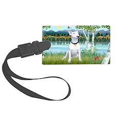 LIC-Birches-Bull Terrier Luggage Tag