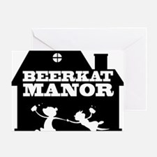 beerkat black Greeting Card