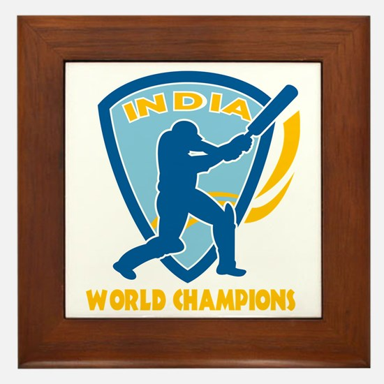 cricket india world champions Framed Tile