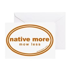native-more-mow-less Greeting Card