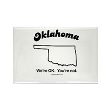 Oklahoma - we're OK Rectangle Magnet