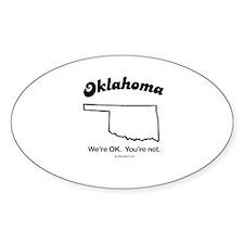 Oklahoma - we're OK Oval Decal