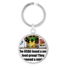 USDAfoodGroup Round Keychain