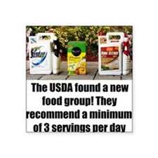 "USDAfoodGroup Square Sticker 3"" x 3"""
