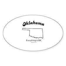 Oklahomo - everything is OK Oval Decal