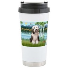 LIC-Birches-BeardedCollie1 Travel Mug