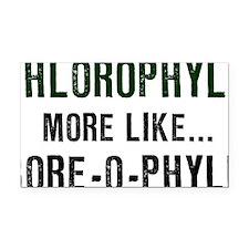 Chlorophyll-(white-shirt) Rectangle Car Magnet