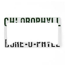 Chlorophyll-(white-shirt) License Plate Holder