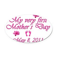 mothers day first2011 pink Oval Car Magnet