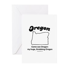 Oregon - come see oregon Greeting Cards (Package o
