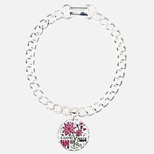 peace love joy flower Bracelet