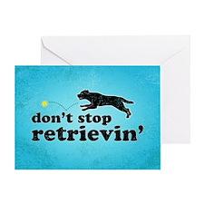 retrievin-distressedbg35x55 Greeting Card