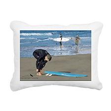 Surfers Wall poster Rectangular Canvas Pillow