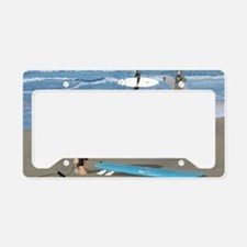 Surfers Wall poster License Plate Holder