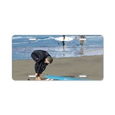 Surfers Wall poster Aluminum License Plate