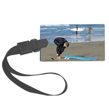 Surfers Wall poster Luggage Tag