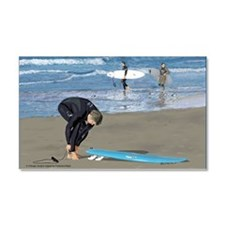 Surfers Wall poster Car Magnet 20 x 12