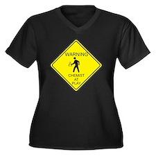 WARNING chem Women's Plus Size Dark V-Neck T-Shirt