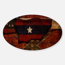 camden-central flag print card Decal