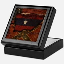 camden-central flag print card Keepsake Box