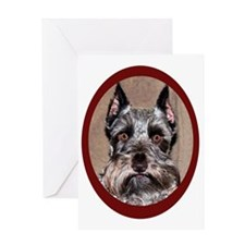 MINIATURE SCHNAUZER PORTRAIT Greeting Card