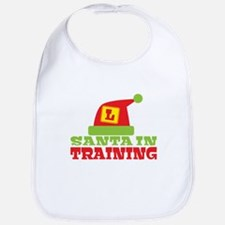 Santa in Training with an L plate Bib