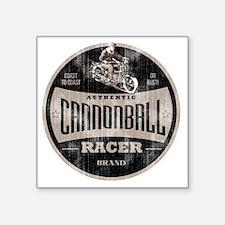 "cannonball racer Square Sticker 3"" x 3"""