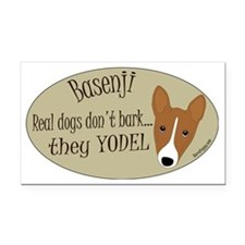 Basenji - They Yodel Rectangle Car Magnet