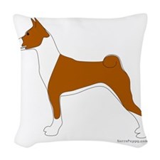Basenji Woven Throw Pillow
