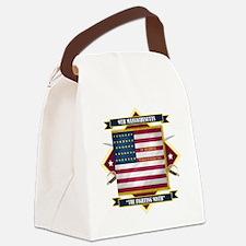 9th Massachusetts (Diamond) Canvas Lunch Bag